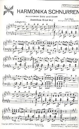 Harmonika Schnurren: für Akkordeon und Klavier