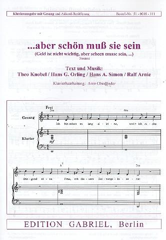 Aber schön muss sie sein: Einzelausgabe Gesang und