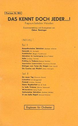 Das kennt doch jeder: Potpourri für Salonorchester