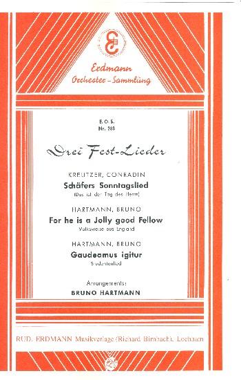 3 Festlieder: für Salonorchester