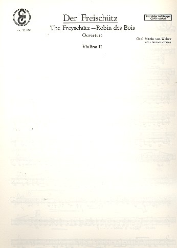 Der Freischütz: Ouvertüre für Salonorchester