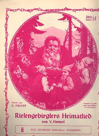 Riesengebirglers Heimatlied: für Zither 1/2