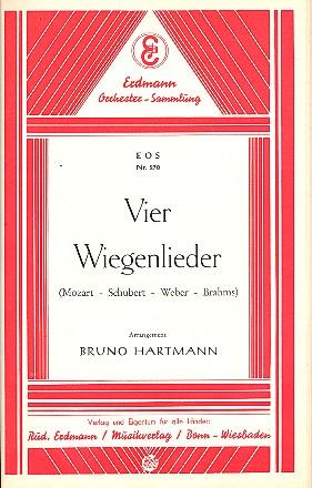 4 Wiegenlieder: für Salonorchester