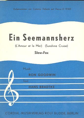 Ein Seemannsherz: Einzelausgabe Gesang und Klavier