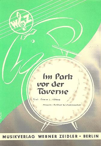 Im Park vor der Taverne: Einzelausgabe Gesang und Klavier