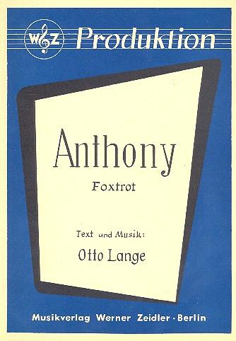 Anthony: Einzelausgabe Gesang und Klavier