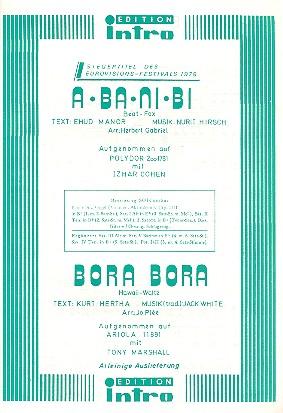 A Ba Ni Bi und Bora Bora: für Salonorchester