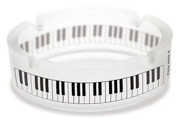 Aschenbecher Tastatur Glas gefrostet, Durchmesser: 10 cm