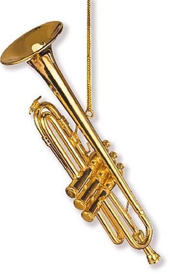 Anhänger Trompete Christbaumschmuck 11,4 cm