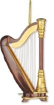 Anhänger Harfe Christbaumschmuck 11,40 cm