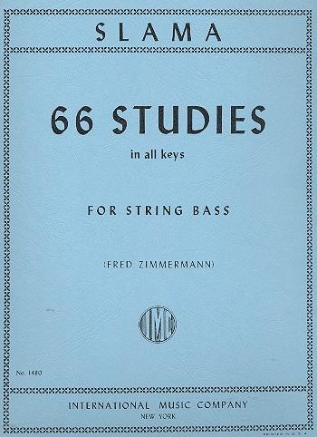 Slama, Anton - 66 Studies in all Keys : for doublebass