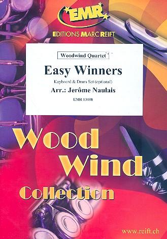 Easy Winners: für 4 Holzbläser (Keyboard und Percussion ad lib)