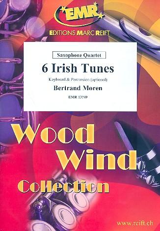 6 Irish Tunes: für 4 Saxophone (SATBar) (Klavier und Percussion ad lib)