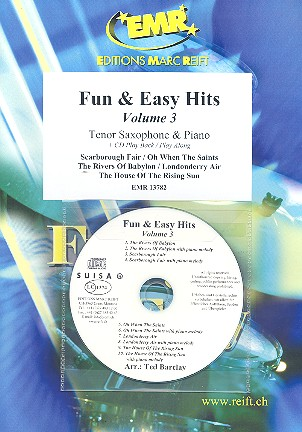 Fun and easy Hits vol.3 (+CD): for tenor saxophone and piano