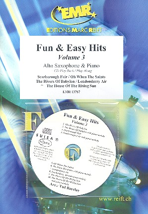 Fun and easy Hits vol.3 (+CD): for alto saxophone and piano