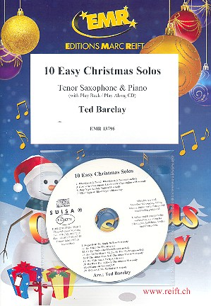 10 easy Christmas Solos (+CD): for tenor saxophone and piano