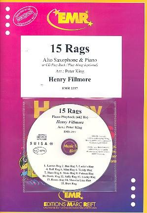 15 Rags (+CD): für Altsaxophon und Klavier