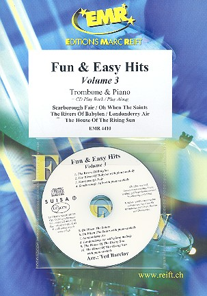 Fun and easy Hits vol.3 (+CD): for trombone and piano