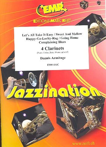 4 Clarinets: für 4 Klarinetten (Klavier, Gitarre, Bass, Drums ad lib)