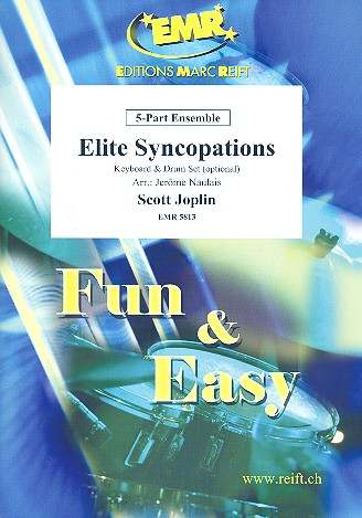 Elite Syncopations: for 5-part ensemble (keyboard and percussion ad lib)