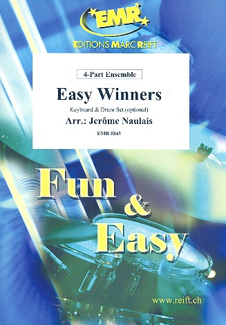 Easy Winners: for 4-part ensemble (keyboard and percussion ad lib)