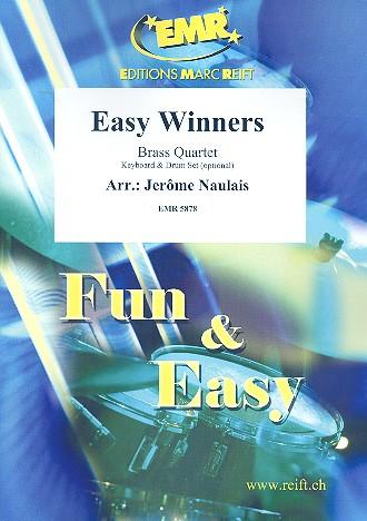 Easy Winners: für 4 Blechbläser (Keyboard und Percussion ad lib)