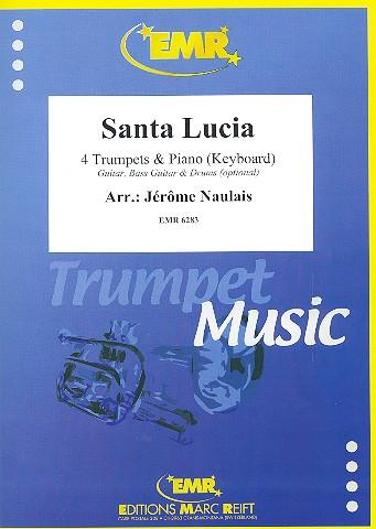 Santa Lucia: für 4 Trompeten und Klavier (Keyboard) (Percussion ad lib)