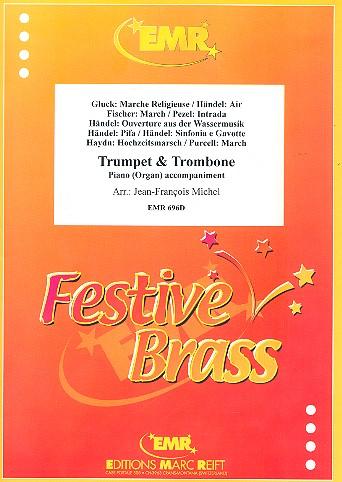 9 Stücke: für Trompete, Posaune und Klavier (Orgel)