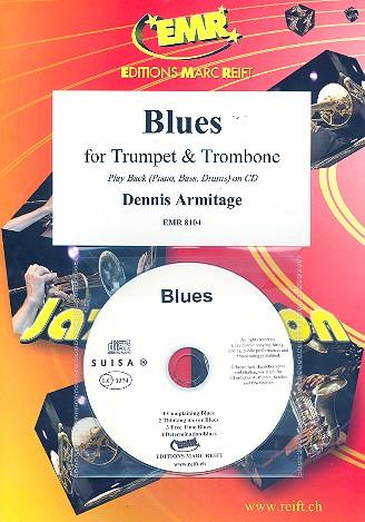 Blues (+CD): für Trompete, Posaune und Klavier