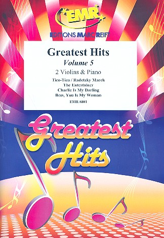Greatest Hits Band 5: für 2 Violinen und Klavier (Percussion ad lib)