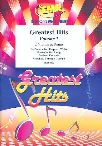 Greatest Hits Band 7: für 2 Violinen und Klavier (Percussion ad lib)