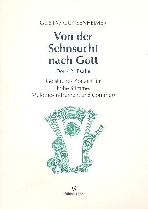 Von der Sehnsucht nach Gott: für Gesang (hoch), melodieinstrument und Bc