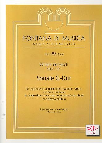 Fesch, Willem de - Sonate G-Dur : für Violine (Sbfl, Fl, Ob)
