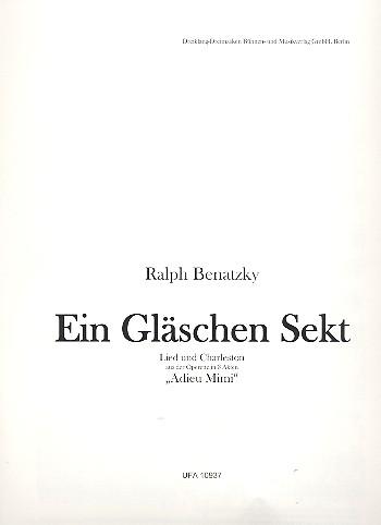 Ein Gläschen Sekt: Einzelausgabe für Gesang und Klavier