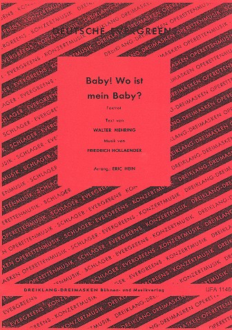 Baby - Wo ist mein Baby: für Gesang und Salonorchester