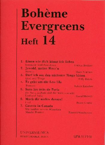 BohèmeEvergreens Band 14 für Gesang und Klavier