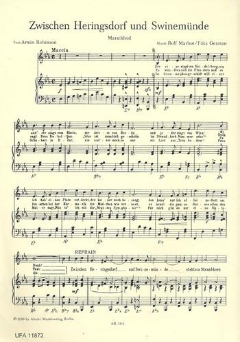 Zwischen Heringsdorf und Swinemünde: für Gesang und Klavier