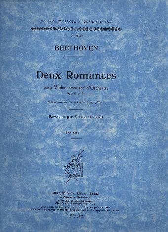 2 Romances opus.40 et opus.50: pour violon et piano