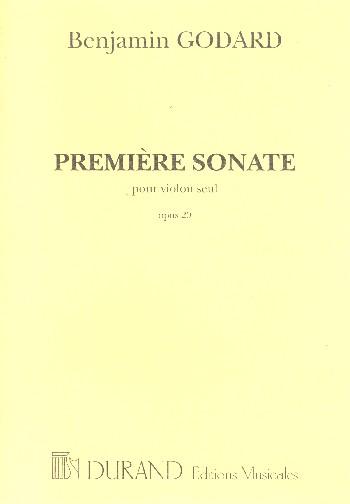 1. Sonate opus.20: pour violon
