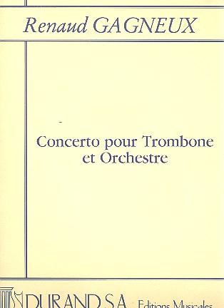 Concerto pour trombone et orchestre: pour trombone et piano
