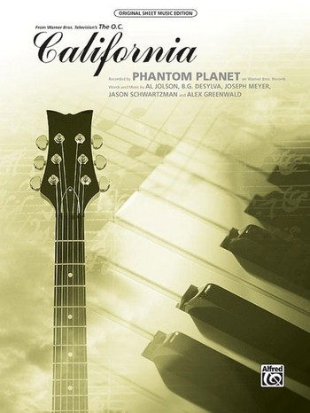 California: for piano/vocal/guitar