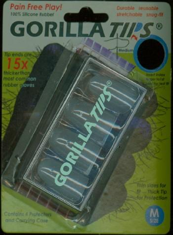 Gorilla Tips Finger Protectors clear Size M