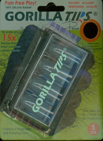 Gorilla Tips Finger Protectors clear Size S