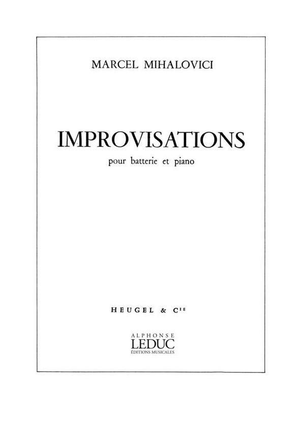 Improvisation: pour batterie et piano