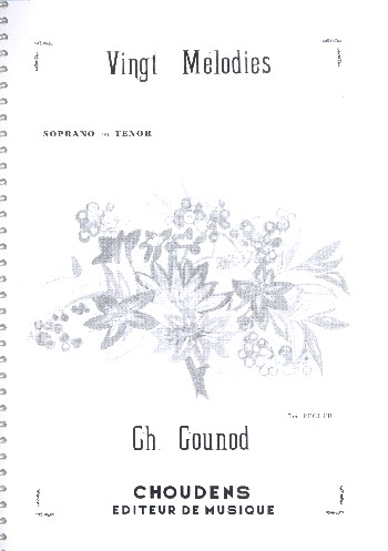 20 Mélodies vol.1: pour soprano (ténor) et piano