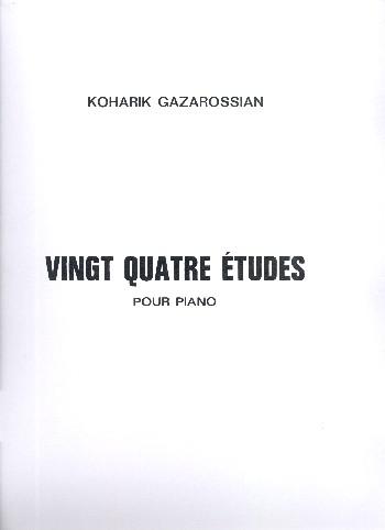 24 Etudes: pour piano