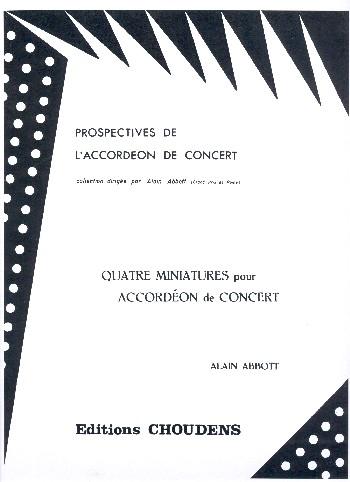 4 Miniatures: pour accordéon de concert