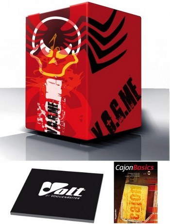 Cool Cajon Angry red Planet Size L (29 x 30 x 48,5 cm)