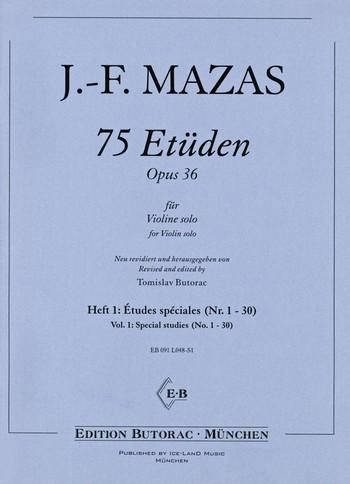 75 Etüden op.36 Band 1: für Violine
