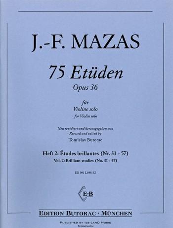75 Etüden op.36 Band 2 (Nr.31-57):